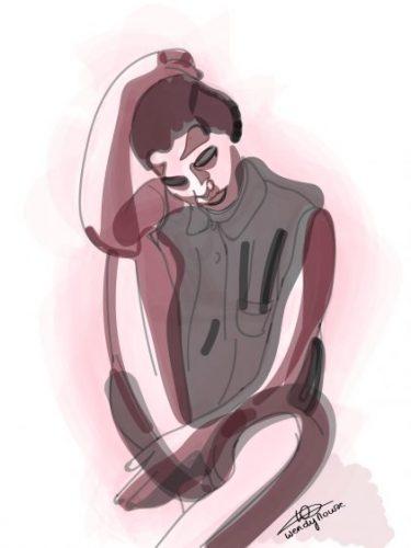 Thoughts - Self Portraits - Printable Illustrations