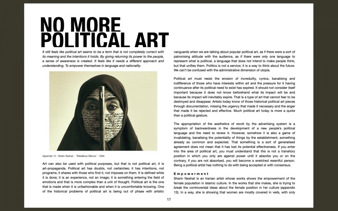 When art becomes Political,
